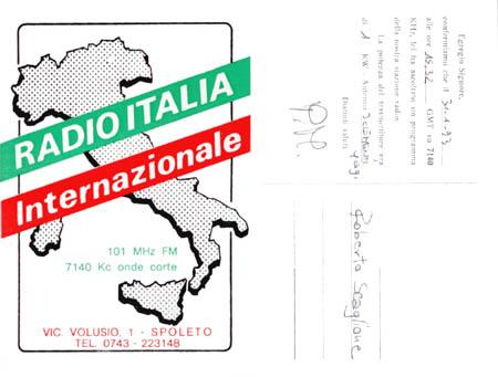 Radio Italia Internazionale - Storia della radiotelevisione italiana. Radio Spoleto International: dall'Umbria alla conquista del mondo in OC