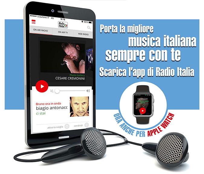 Radio Italia app - Radio. Volanti: Radio Italia prima ad aver creduto nella tv. Futuro sarà IP, ma radio prospererà. Aggregatori grande opportunità