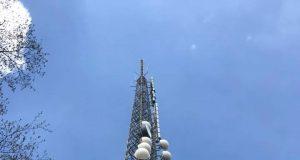 antenne, traliccio, broadcasting