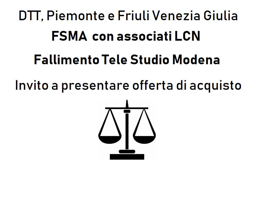 Fallimento Tele Studio Modena banner 900x700 - DTT. TAR: revoca diritti d'uso a seguito revisione graduatoria regionale. Va tutelato legittimo affidamento dell'operatore di rete