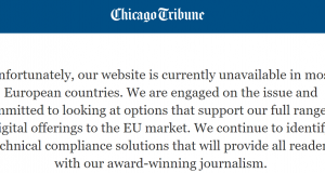 Chicago tribune, GDPR, UE