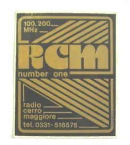 RCM Radio Cerro Maggiore - Storia della radiotelevisione italiana. Provincia di Milano, 1977: RCM Number One, espressione della spensieratezza in un anno complicato