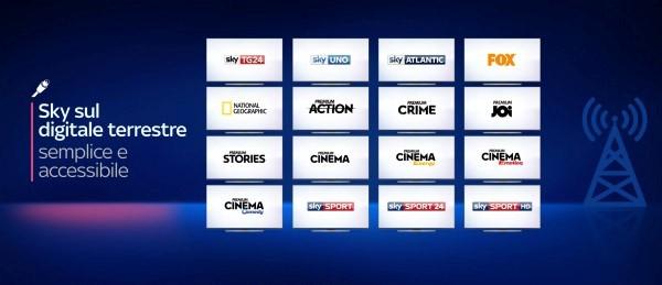 Sky sul digitale tessestre - Tv. Integrazione piattaforme per la tv di Murdoch e dal 2019 Netflix su Sky Q