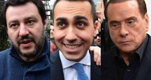 Di Maio, Salvini, Berlusconi