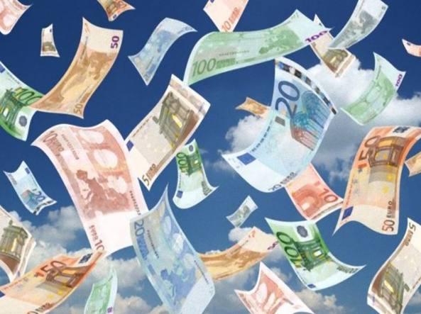 notizia, futuro, denaro, volta