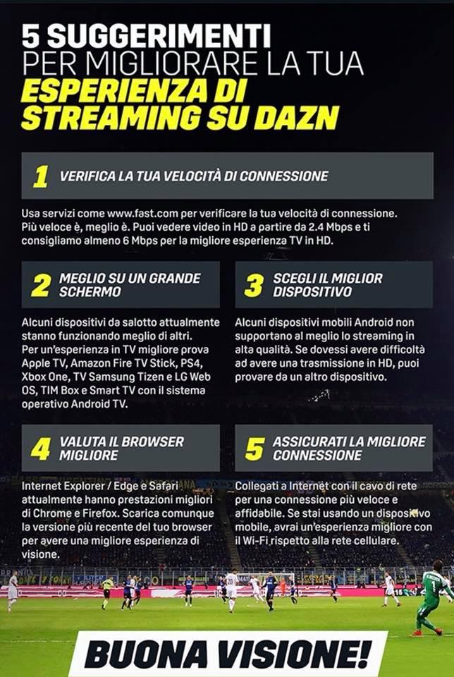 DAZN - Radio e Tv 4.0. I problemi di connessione degli utenti di DAZN riportano a galla i noti dubbi: siamo veramente pronti per il totally IP?