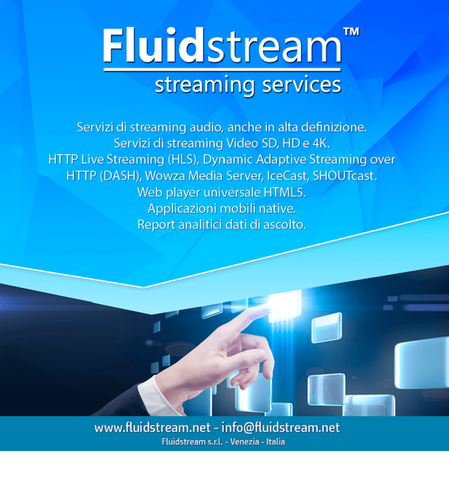 Fluidstream banner 900x970 900x970 - Pubblicita'. Bene la raccolta nel mese di agosto per Radio, Tv, Web, Cinema. Male Quotidiani, Periodici, Outdoor. Stima 2018: 1,5%