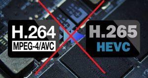 H264, H265, nodi, mpeg4/H264
