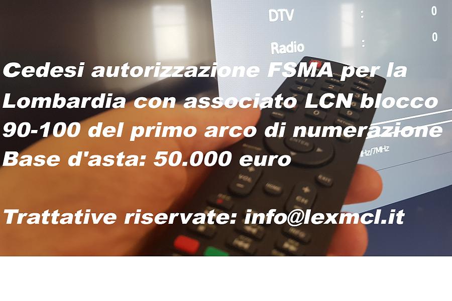 Cessione FSMA 90 100 Lombardia 900x600 px - Radio, Tv, Editoria. Disamina dei commi di rilievo dell'art. 1 della Legge di Bilancio 2019 (L. 145/2018)