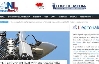NL pagina screenshot 341x220 - Newslinet  periodico di Radio e Televisione , Telecomunicazioni  e multimediale