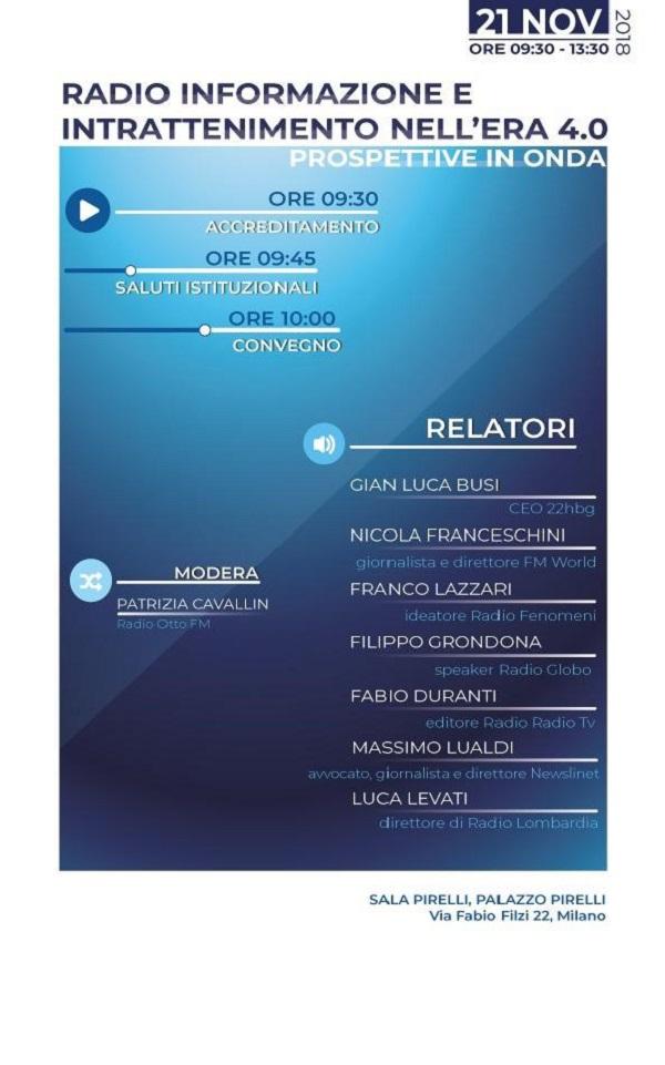 Convegno Regione Lombardia Radio 4.0 Milano 21112018 600x961 - Tlc. Gubitosi nuovo AD di Telecom Italia - Tim al posto di Genish. Si va verso la separazione della rete dalle attivita' operative. Grandi manovre in corso