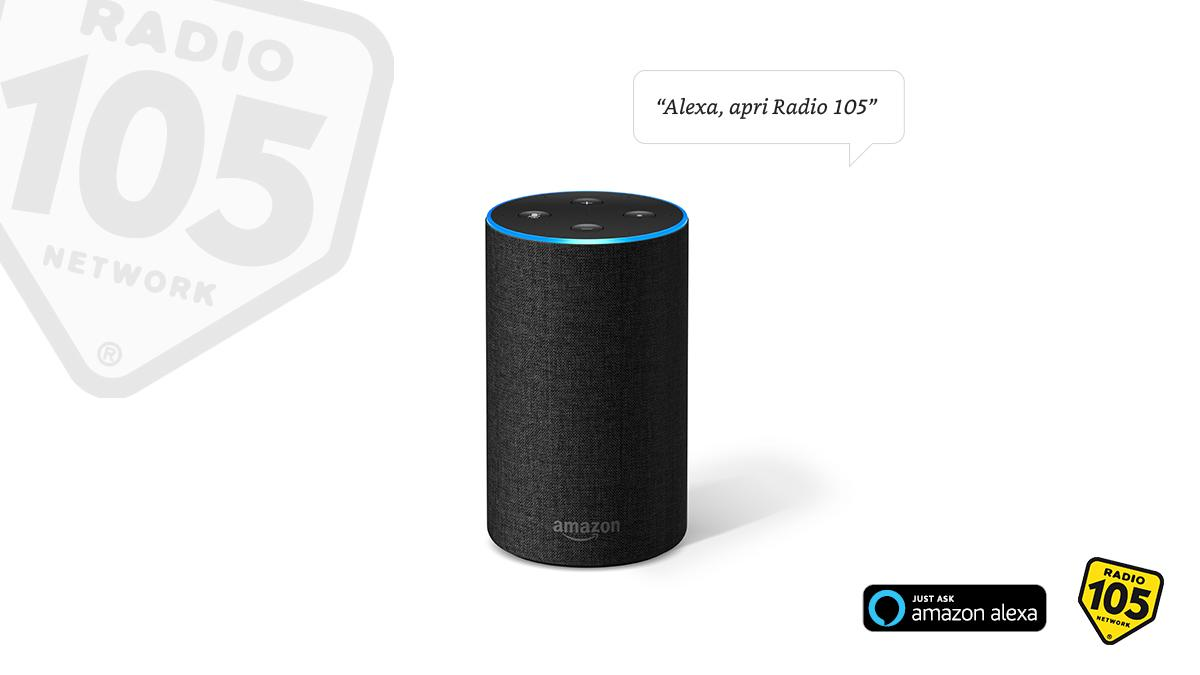 radio 105 smart speaker alexa.jpg  - Radio. Rivoluzione a Radiomediaset: lascia la direzione di Radio 105 De Robertis ed arriva Rosseti. Divorzio consensuale?
