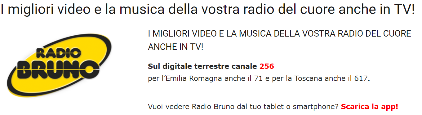 Radio Bruno Tv sito - Radio. Emilia Romagna: panoramica completa sui dati TER 2018, a confronto con quelli del 2017. Nuova clamorosa impresa di Radio Bruno, che sfiora il primato assoluto