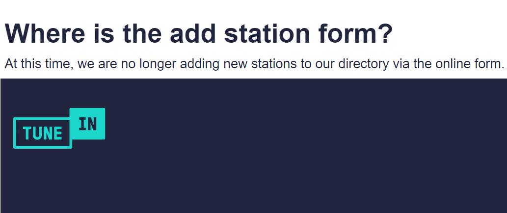 add station tunein