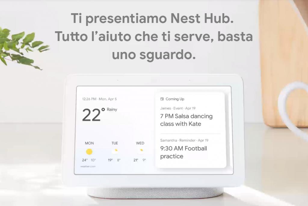 google nest hub 1024x685 - Tecnologia. Google Nest Hub debutta in Italia: e' guerra all'ultimo smart speaker