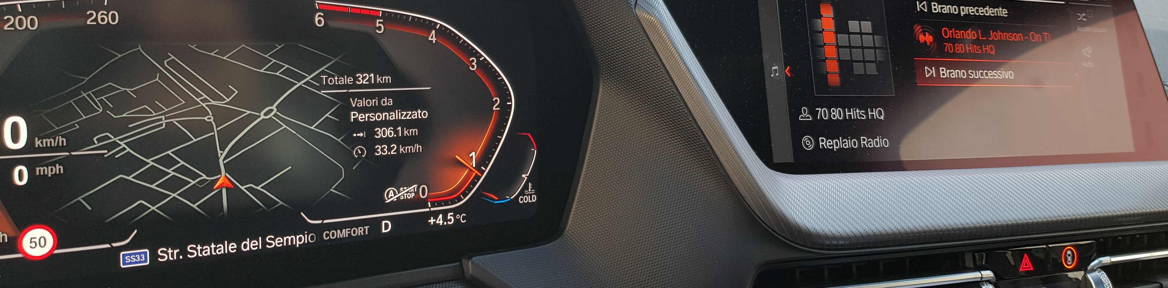 BMW serie 1 numero III - Radio 4.0. Test drive su connected car BMW: marginalizzata FM, dominano DAB+ e IP