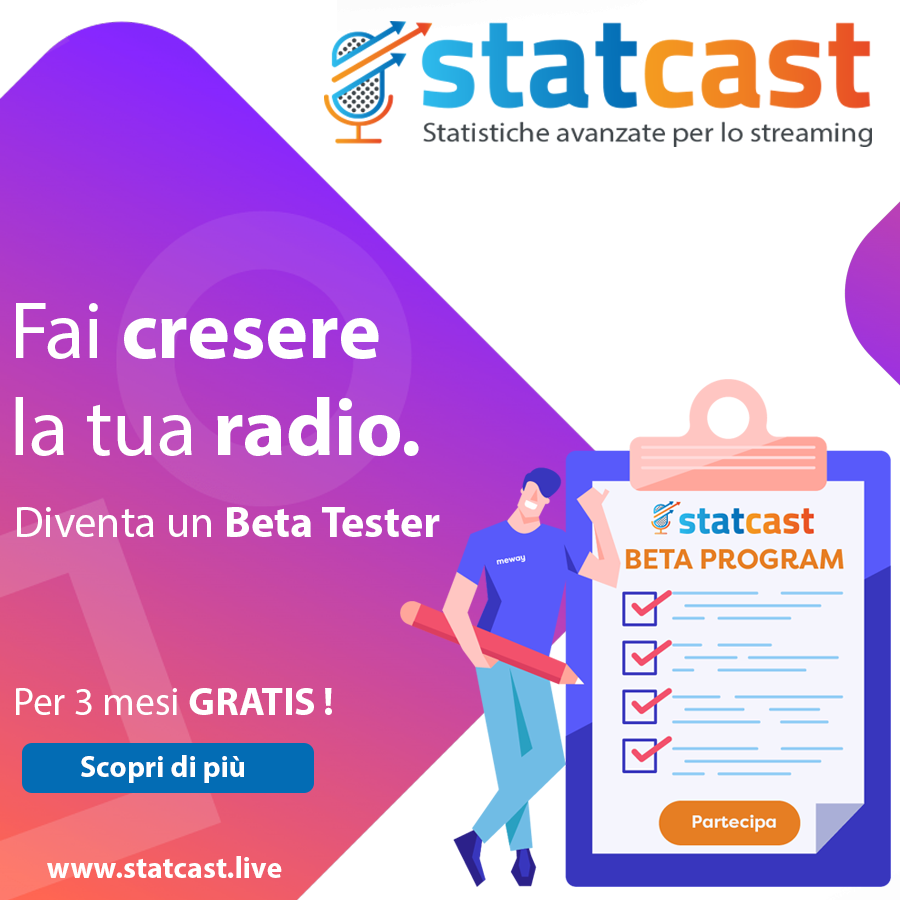 MeWay beta 900x900 - Radio & social. Report Social Radio Lab e Talkwalker: calo pubblicazioni top radio su FB. Male anche Twitter. Su YouTube guerra tra DeeJay, Radio 105 e RTL
