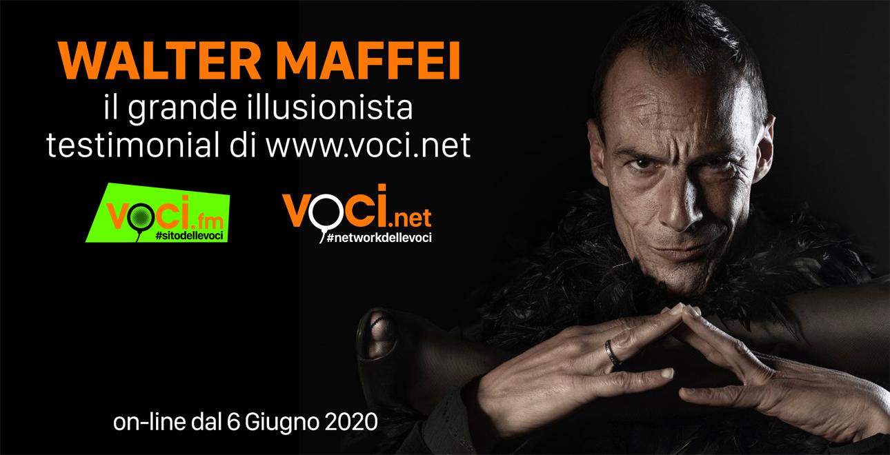 Walter Maffei - Audioproduzioni. Voci.fm si sdoppia in Voci.net creando un motore di ricerca di 3000 speaker italiani