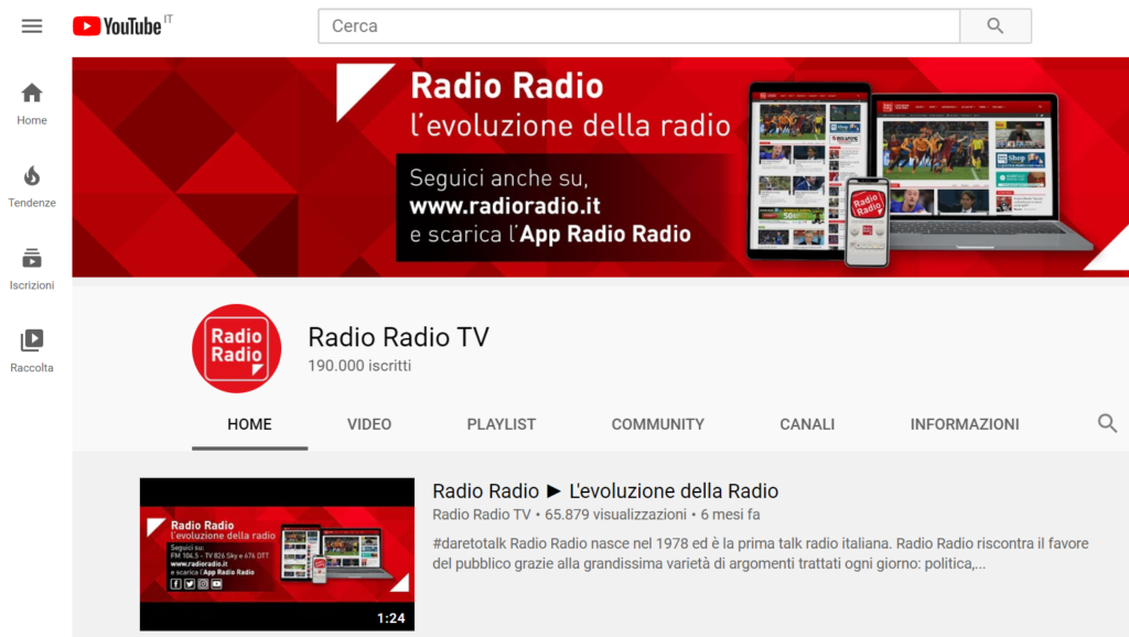 canale youtube