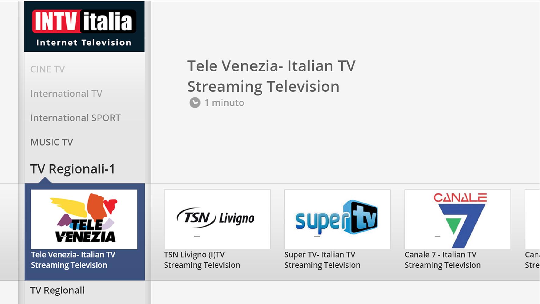 tv regionali INTV - Tv 4.0. INTV Italia: l'aggregatore di tv italiane presente su 250 mln di smart tv in 130 paesi al mondo. Ecco come farne parte