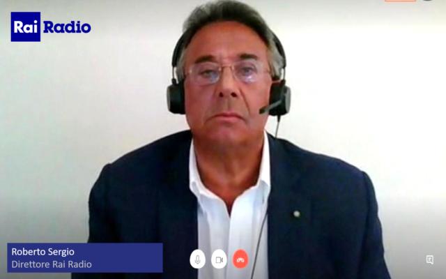 Roberto Sergio, videocall