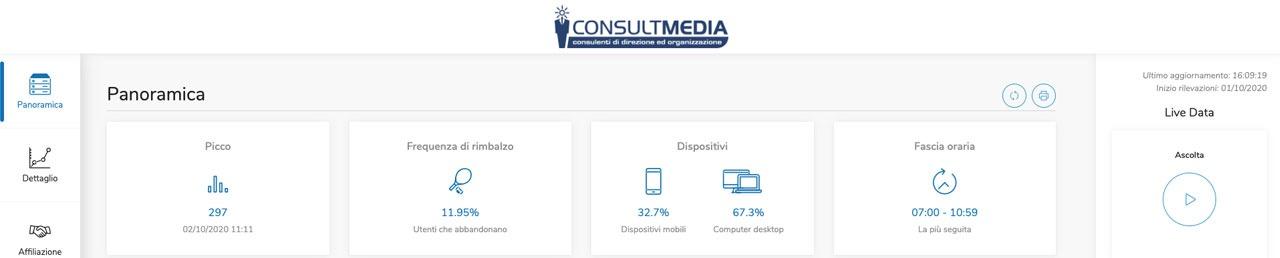 StatCast - Radio Tv 4.0. StatCast: ecco il tasso di abbandono dell'ascolto in streaming e la misurazione di Top & Flop. Nuove funzionalità per analisi dell'IP Radio