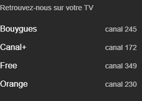 LCN Francia 3.png - Tv. Il caos degli LCN in Francia. A parte un'iniziale armonizzazione multipiattaforma, la situazione appare più confusa che in Italia