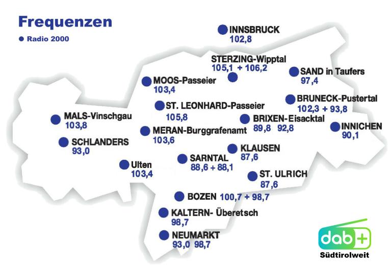 Radio 2000 RTA Radio TransAlpin - Storia della radiotelevisione italiana. Bolzano, Radio TransAlpin: l'antenna più alta d'Europa con 400.000 W ERP per servire Austria e Germania dall'Italia