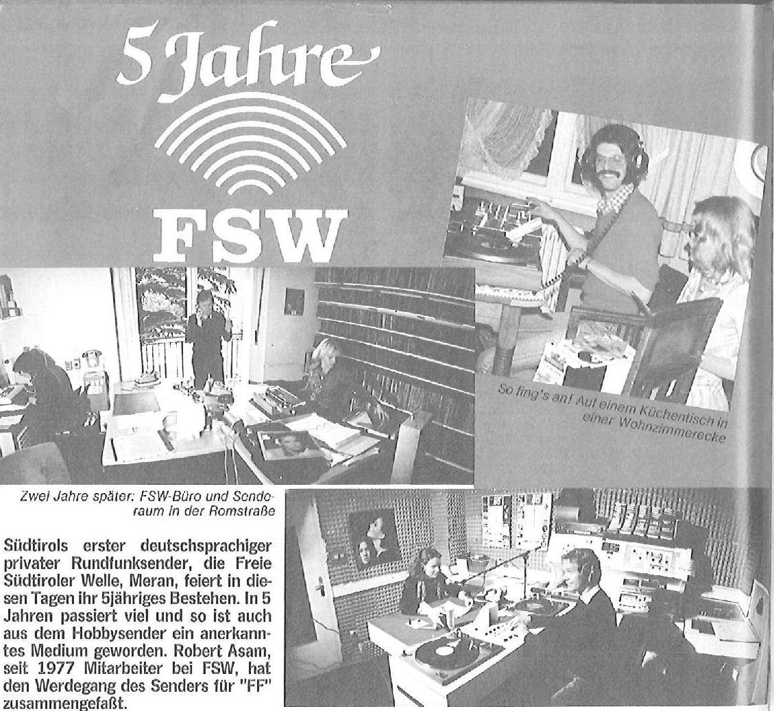 fsw rta radio translapin - Storia della radiotelevisione italiana. Bolzano, Radio TransAlpin: l'antenna più alta d'Europa con 400.000 W ERP per servire Austria e Germania dall'Italia