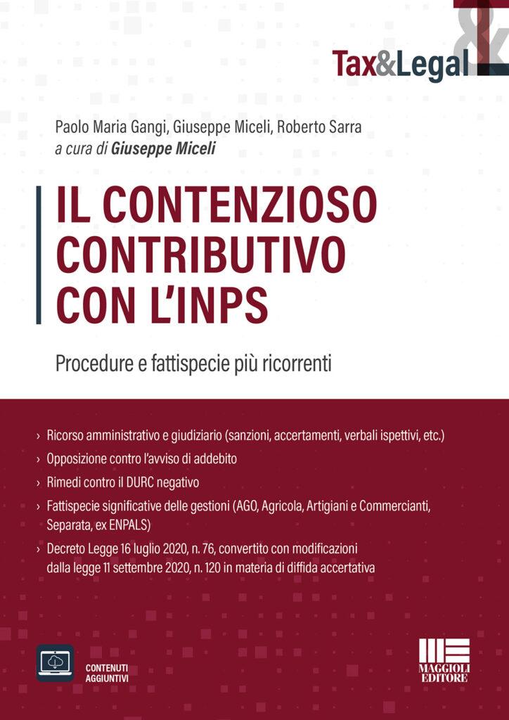 Libro il contenzioso contributivo con l'Inps Maggioli editore