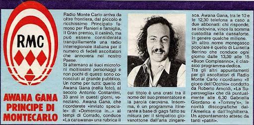 principe - Radio. L'Awana Gana di Radio Monte Carlo che non conoscevamo. Dal merito dell'acronimo RDS al ruolo sociale