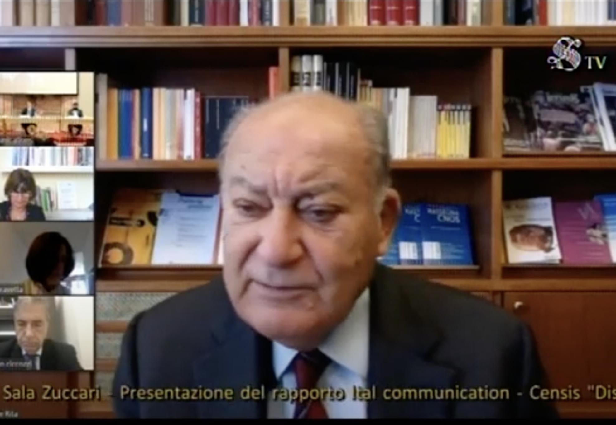 De Rita - Media. De Rita, presidente Censis: la strategia di comunicazione del governo durante la prima fase Covid ha creato angoscia e ha schiacciato il ruolo del giornalismo