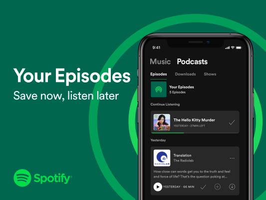 Spotify Your Episodes Image 2 - Media. Anche Facebook punta sull'Audio: in arrivo 4 nuove funzioni. Il Social risponde a Clubhouse