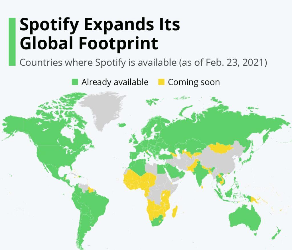 spotify, la crescita