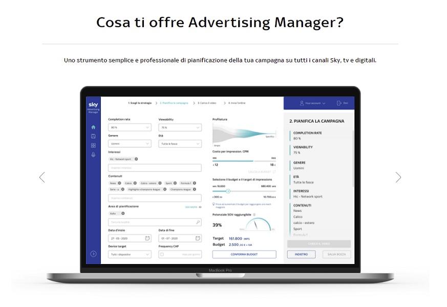 Sky Advertising Manager - Media. Sky Advertising Manager: la piattaforma per advertising crossmediale pensata per le PMI