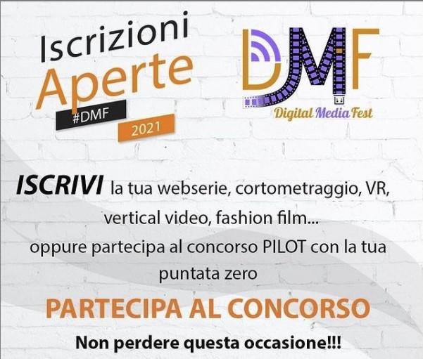 digital media fest 3 - Cinema. Online il bando per partecipare al Digital Media Fest 2021