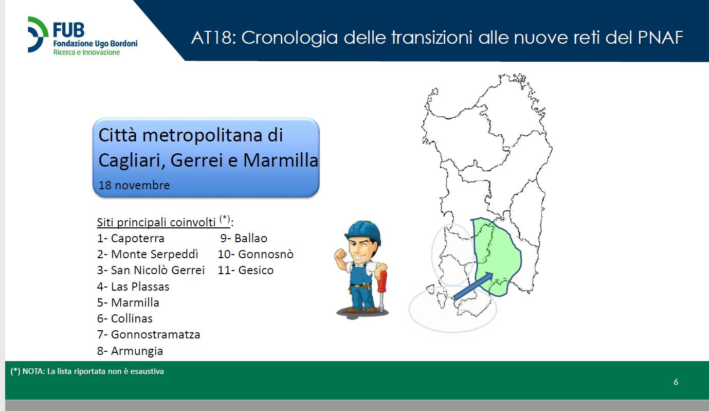 SARDEGNA SWITCH OFF 2021 2 - DTT. Mise illustra dinamica switch-off 2021 Sardegna. Importante test per processo su tutte le restanti aree tecniche