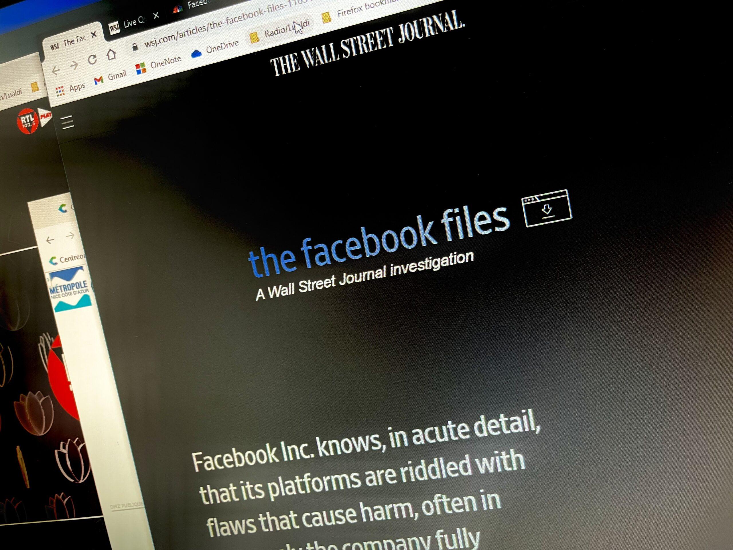 facebook files, wsj