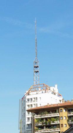 antenna FM Via Valenza Milano - Newslinet  periodico di Radio e Televisione , Telecomunicazioni  e multimediale